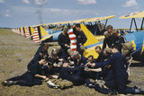 Royal Air Force cadets take a break from the hot Florida sun