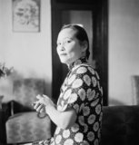 Soong Ching-ling, also known as Madame Sun Yat-Sen, at her home in Chungking, China, 1944,  Madame Sun Yat-sen, widow of the founder of  the Chinese Republic, founded the China Defence League