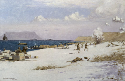 Troops Landing on C Beach, Suvla Bay, Later in the Day, 7th August 1915