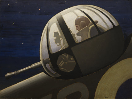 An Air Gunner in Action Turret: Night