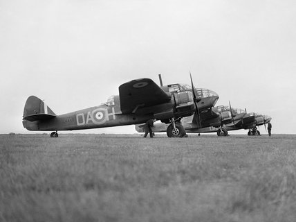Bristol Beaufort Mk Is of No. 22 Squadron RAF at North Coates in Lincolnshire, 19 July 1940.