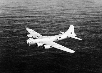Boeing Fortress Mk IIA of No. 220 Squadron RAF based at Benbecula in the Outer Hebrides, in flight over the Atlantic Ocean, May 1943.