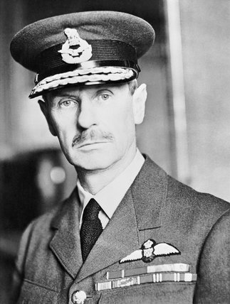 Air Chief Marshal Sir Hugh Dowding, Commander in Chief of Royal Air Force Fighter Command during the Battle of Britain.
