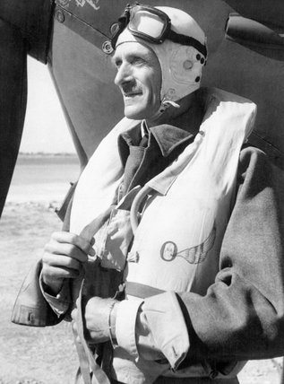 A portrait of Air Vice Marshal Sir Keith Park while commanding RAF squadrons on Malta, September 1942.
