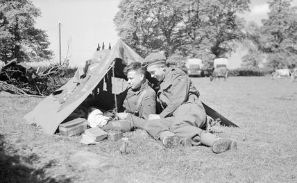 Men of the Royal Corps of Signals, in camp at Hayling Island during Exercise 'Fabius', 4 May 1944.