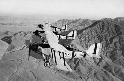 Westland Wapiti Mark IIA aircraft of No.31 Squadron, RAF, flying over the North West Frontier of India during the early 1930s.