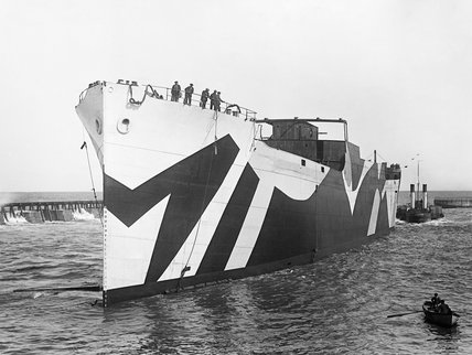 Newly launched 'Standard' merchant ship built at Sunderland during the First World War.