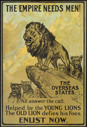 The Empire Needs Men!<br>British Army Recruitment Poster, First World War, 1915