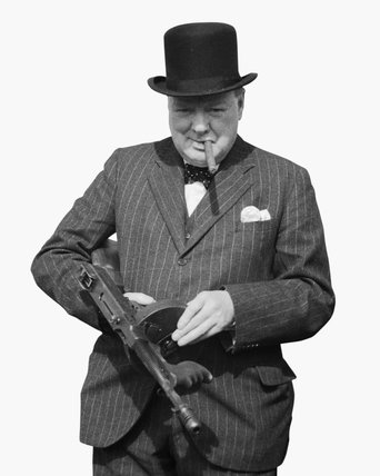 Mr Churchill Inspecting a 'Tommy' Gun, 31 July 1940