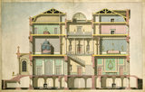 Design for a town house: section