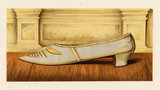 Shoe of Lilias, daughter of the 12th Earl of Eglinton; from T. Watson Greig, from 'Ladies' old-fashioned shoes',1885