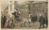 Doctor Syntax taking possession of his living, from 'The Tour of Doctor Syntax in search of the Picturesque', London 1812