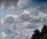 Cloud Study, Hampstead, Tree at Right