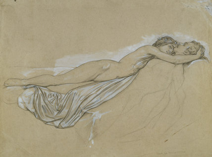 Nude study for Romeo and Juliet in 'The Reconciliation of the Montagues and the Capulets'