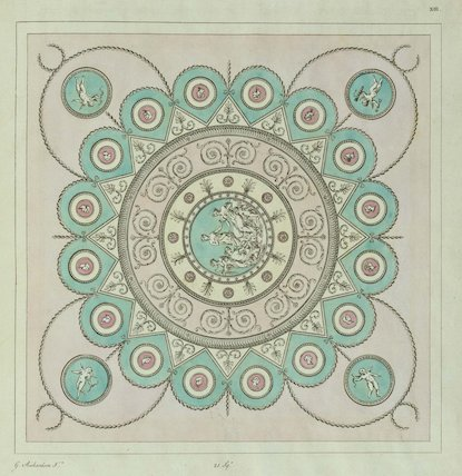 Design for a dressing-room ceiling from A Book of Ceilings composed in the style of the Antique Grotesque, London 1776 (plate XIII)