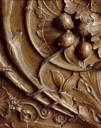 Architectural cast: relief panel decorated with scrolling foliage