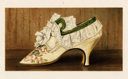 Miss Langley's Shoe; from T. Watson Greig, from 'Ladies' old-fashioned shoes', 1885