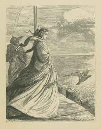 Outward Bound, from Edward & Thomas Dalziel's 'A Round of Days', London: George Routledge &  Sons, 1866