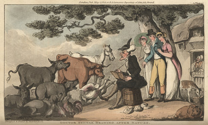 Doctor Syntax drawing after nature, from 'The Tour of Doctor Syntax in search of the Picturesque', London 1812