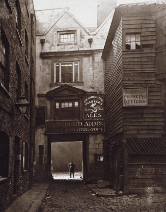 The Entrance of The Oxford Arms, Warwick Lane, 1875, looking from Warwick Lane