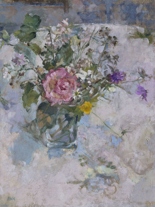 Still Life with Rose and Wild Flowers