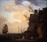 An Italianate Harbour Scene