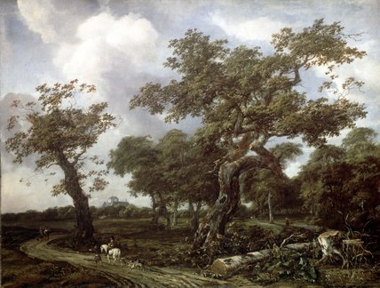 A Wood near The Hague, with a view of the Huis ten Bosch