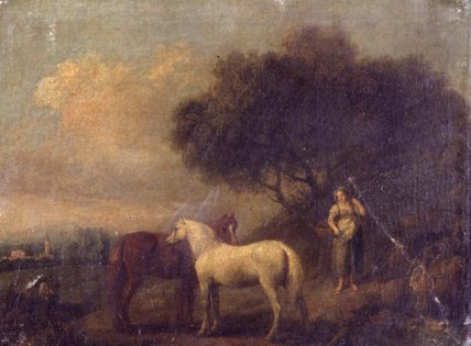 Landscape with Horses