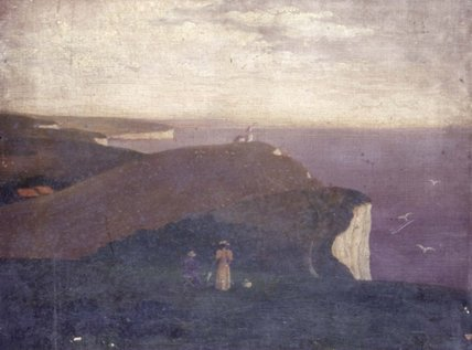 The South Downs, with the Belle Tout Lighthouse