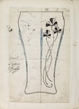 Whitefriars Collection notebook drawing: c.1880-1910