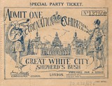 Coronation Exhibition ticket: 1911