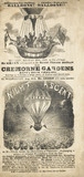 Balloon ascents made by Mr Green from Cremorne Gardens; 1845