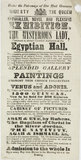 Poster for the Mysterious Lady at the Egyptian Hall; 1845