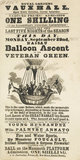 A poster announcing a balloon ascent; 1851