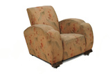 Armchair covered with brown flowers;1938