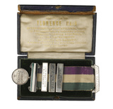 Silver Hunger Strike medallion with box: 1912