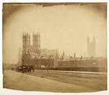 A view of Westminster Abbey from the west; c.1857