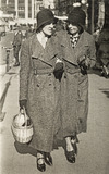 Two women in Sutton High Street; 1931-1935