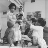 Camden's first multi-racial playgroup; 1968