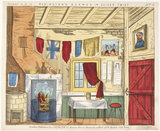 Toy theatre sheet depicting Fagin's den in Oliver Twist: c.1870
