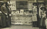 Suffragette fund raising stand: 1912