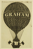 Poster advertising a balloon ascent; 1825