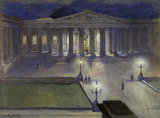 The British Museum by night; c 1890
