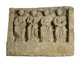 Stone sculpture of four mother goddesses.200-299