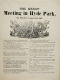 The Great Meeting in Hyde Park; 1867