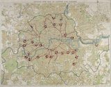 Map of London and suburbs;1921-26
