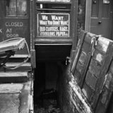 A cellar with open door. c.1955