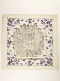 Souvenir paper table napkin; 1908