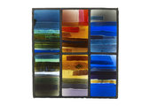 Coloured glass panel, from Whitefriars Glass showroom
