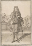 A print showing a man associated with James II; 1691